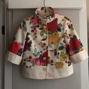 Ted Baker floral and cream blazer